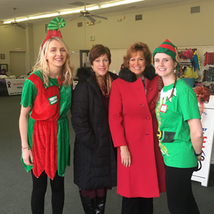 Lezlie and Joan Waites with elves