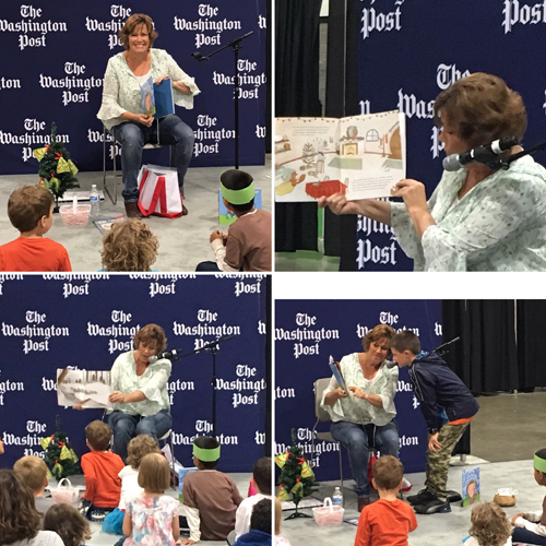 Pictures of Lezlie at the 2017 National Book Festival